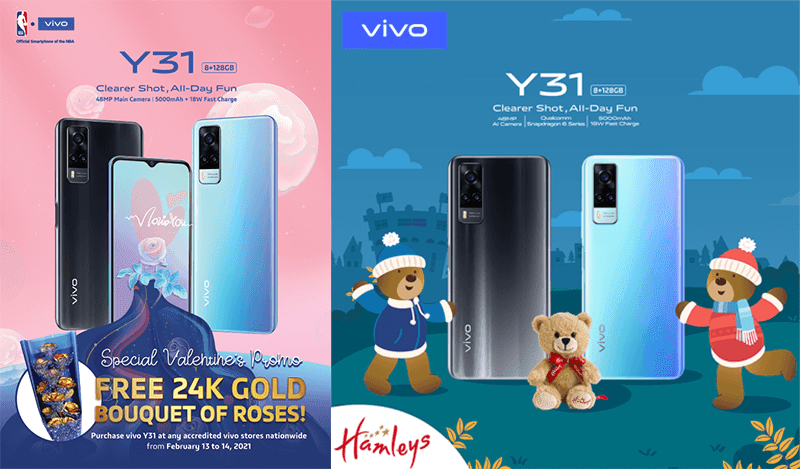 vivo announces Valentine's Day deals including a 24K gold bouquet with the Y31