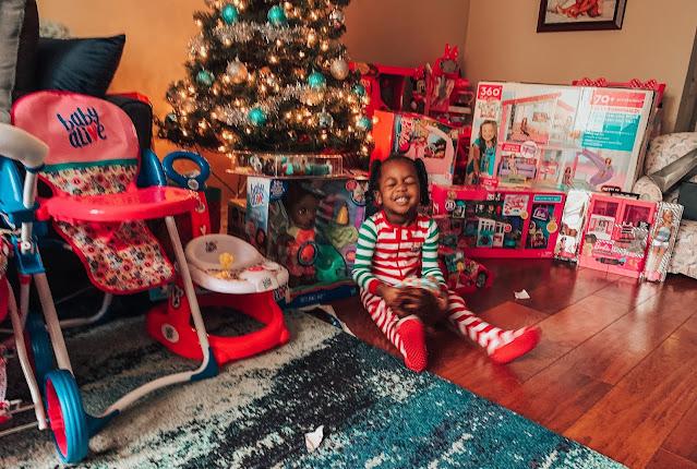 Toddler on Christmas Day