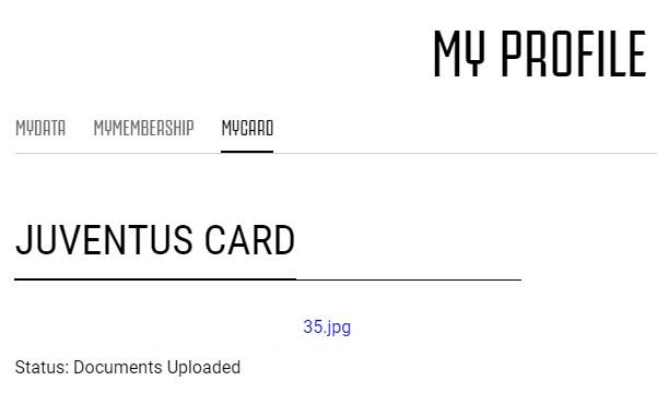 Juventus Card