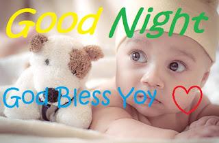 good night cute boy pic