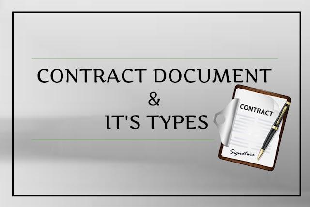 CONTRACT DOCUMENT & IT'S TYPES | अनुबंध दस्तावेज और इसके के प्रकार