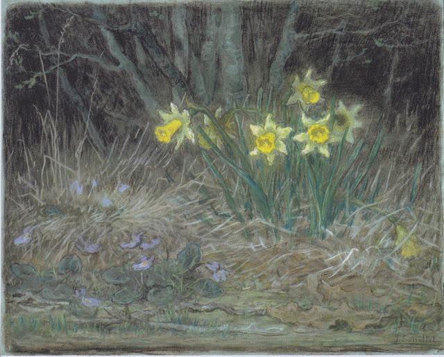 Жан Франсуа Милле - Нарциссы и фиалки. 1867