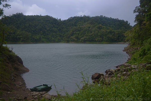 Paddle boat docked at Lake Balinsasayao
