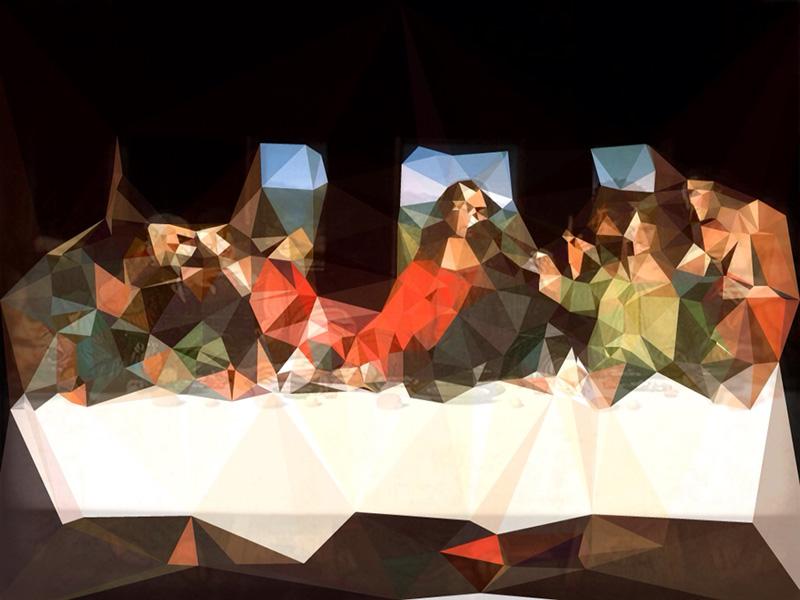 Last Supper Collage, 2013 by Akira Hashiguchi