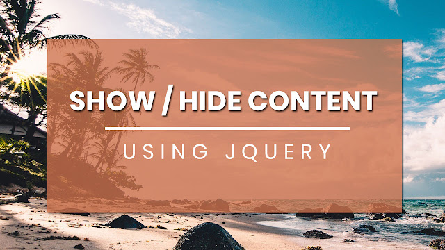 Show and Hide Parts of Content with JQuery | JQuery Plugin Tutorial