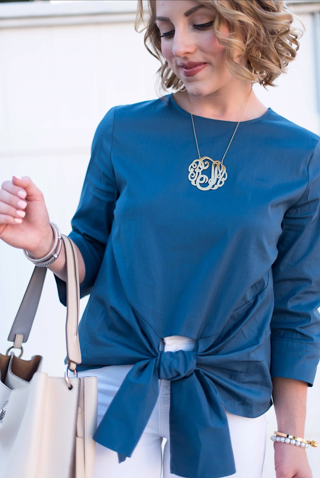 Monogram Necklace - Click through to see more on Something Delightful!
