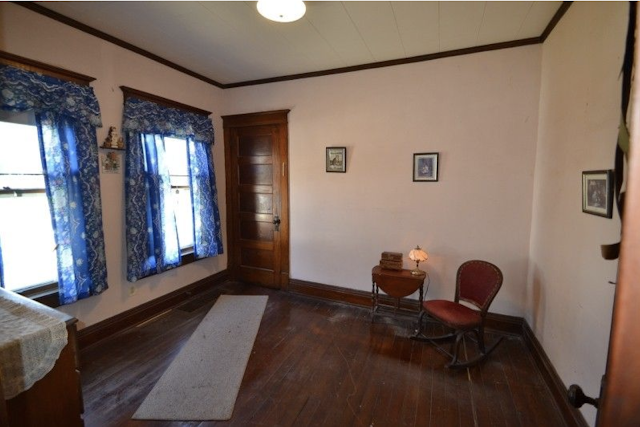 color photo of bedroom with two windows Sears Winona 3 Prospect St High Bridge NJ