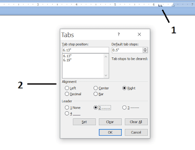 cara setting daftar isi ms word