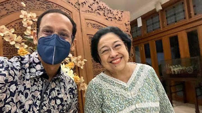 Nadiem Makarim Temui Megawati Jelang Reshuffle Kabinet,  Ada Apa?