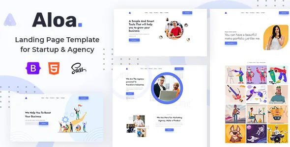 Best Landing Page Template for Startup & Agency