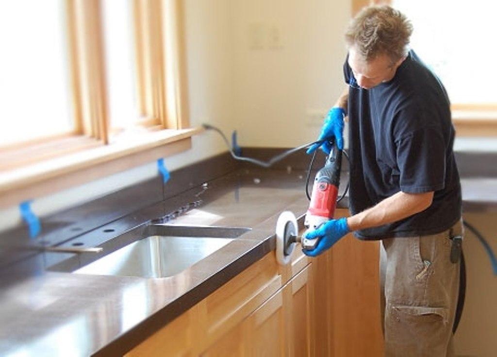 Cara Pasang Granit Pada Kitchen Set Untuk Mengubah