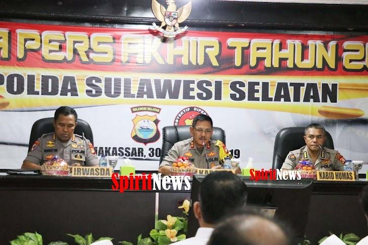 Kabid Humas Dampingi Kapolda Sulsel, Giat Press Release Akhir Tahun 2019