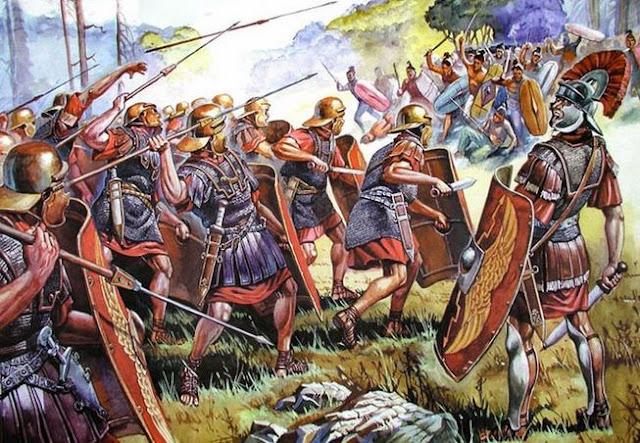 Roman battle against Cimbri
