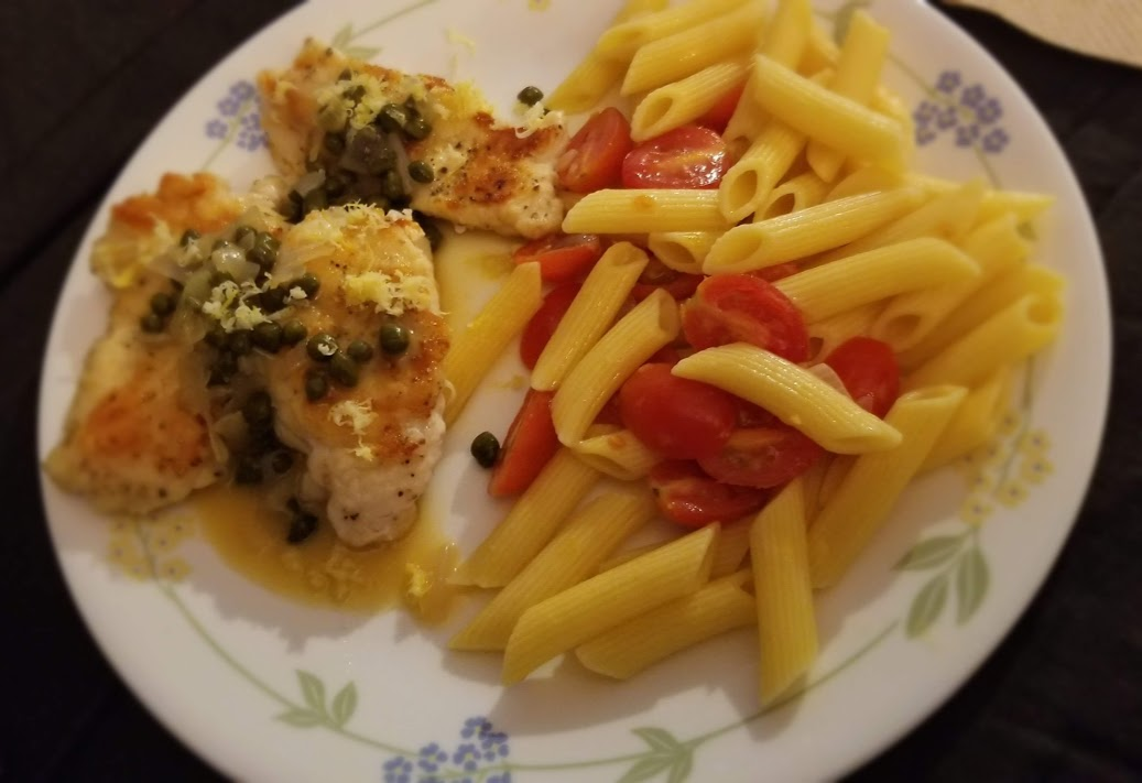 Chicken piccata, from Home Chef