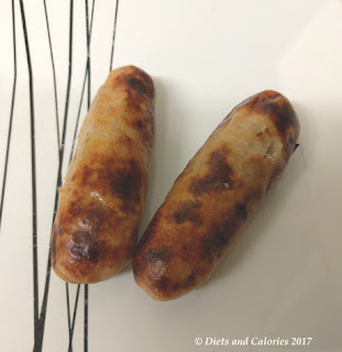 M&S Skinny Sausages cooked