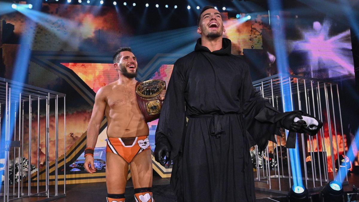 Johnny Gargano and Austin Theory in WWE NXT TakeOver: WarGames 2020