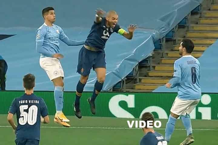 Sergio Conceição, Manchester City 3-1 fc porto, VAR, UEFA, 2020, video,