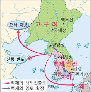 Korea histroy: Bakjae map