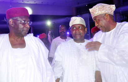 From left: Alh. Abba Kyari, Chief of Staff to the President, Alh. Aliko Dangote and Alh. Isa Ismail Funtua.