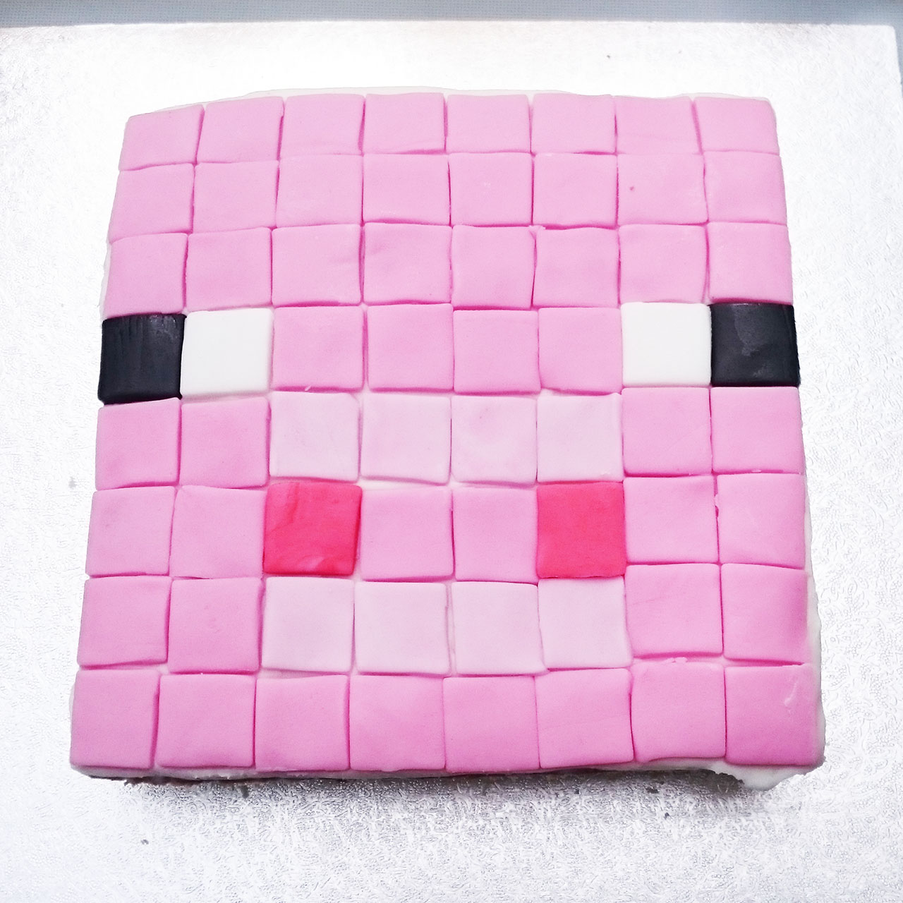 minecraft cake recipe.  Cake Minecraft Cake I Chose Two Designs Simple Ground Blocks And A Pink Pig  Both Were Made Using Traybake Recipe Iu0027ve Been Given By Friend Years  To Cake Recipe