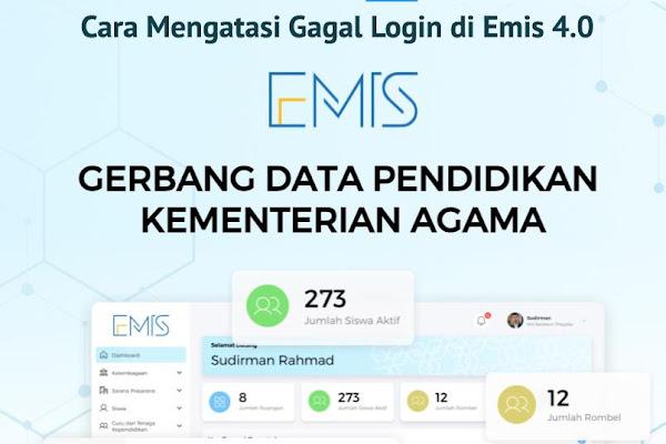 Cara Mengatasi Gagal Login/Registrasi Akun Kepala Lembaga di Emis 4.0