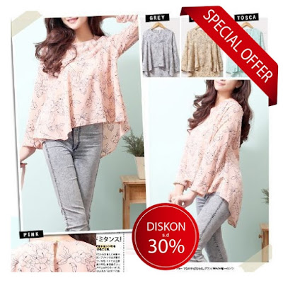 blouse casual import korea murah