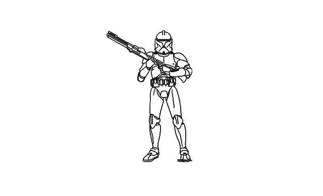 dibujos faciles stormtrooper