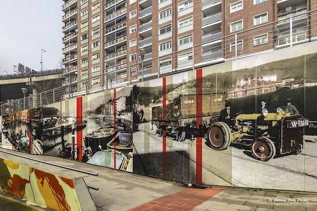 Mural (detalle) Fotografico de Matiko, por Estudios Durero - Bilbao, por El Guisante Verde Project