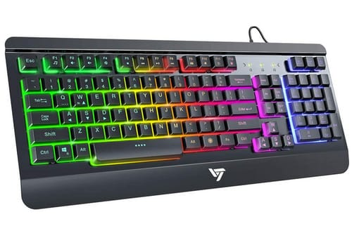 Vic Tech CA LED Light Up Keyboard with Rainbow Backlit