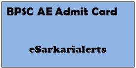 BPSC AE Admit Card