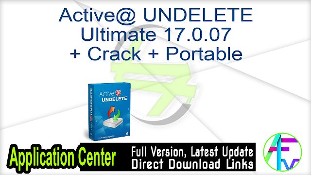 Active@ UNDELETE Ultimate 17.0.07 + Crack + Portable