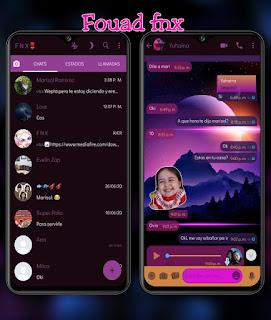 Night Mod Theme For YOWhatsApp & Fouad WhatsApp By Ave fénix