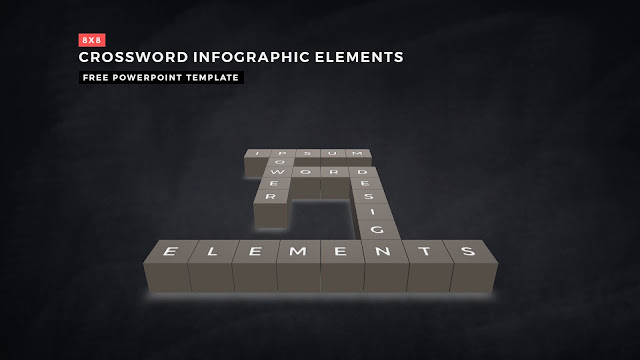 Crossword Puzzles Infographic Elements for PowerPoint Templates with Dark Background Slide 10