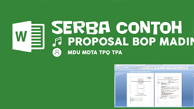 Contoh Proposal BOP Madin MDU MDTA TPQ 2021