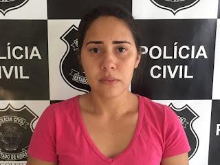 PC de Goiatuba prende autora confessa de homicídio contra jovem paraibana do Sitio Mendes