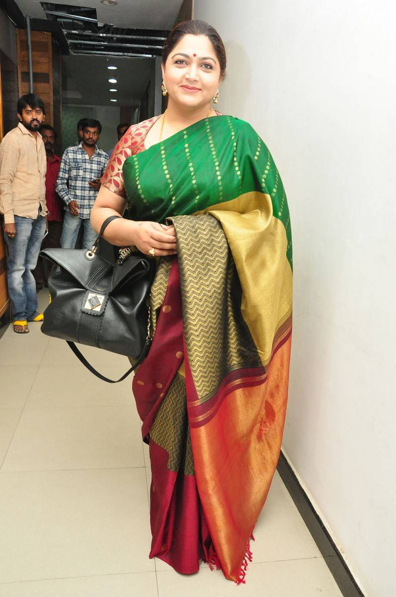 Khushboo Photos In Green Saree