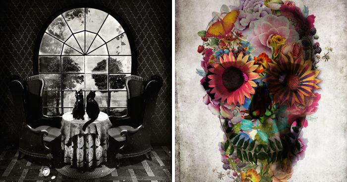 Composiciones visuales de cráneos por Ali Gulec