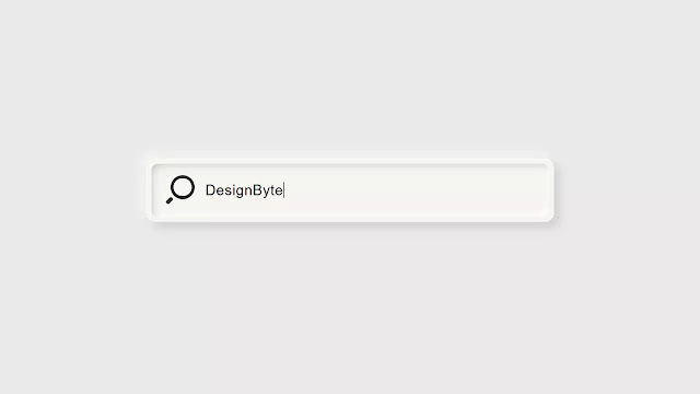 Pure CSS Neumorphic Inspired Search Bar