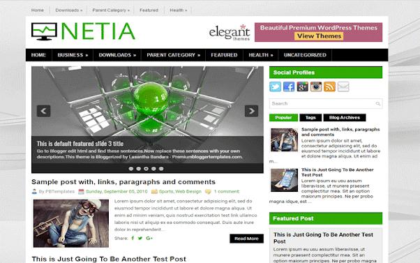 Netia Free Blogger Template