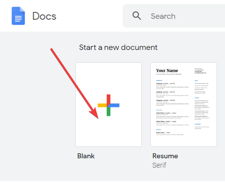 start-a-new-document-docs