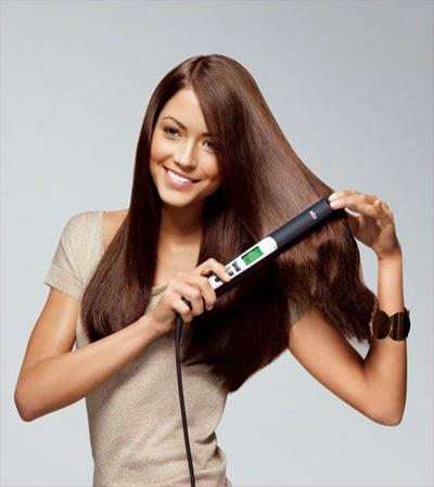 Không sấy khô tóc và ép thẳng tóc