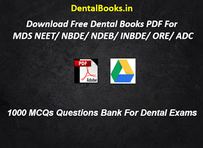 1000 MCQs Questions Bank For Dental Exams