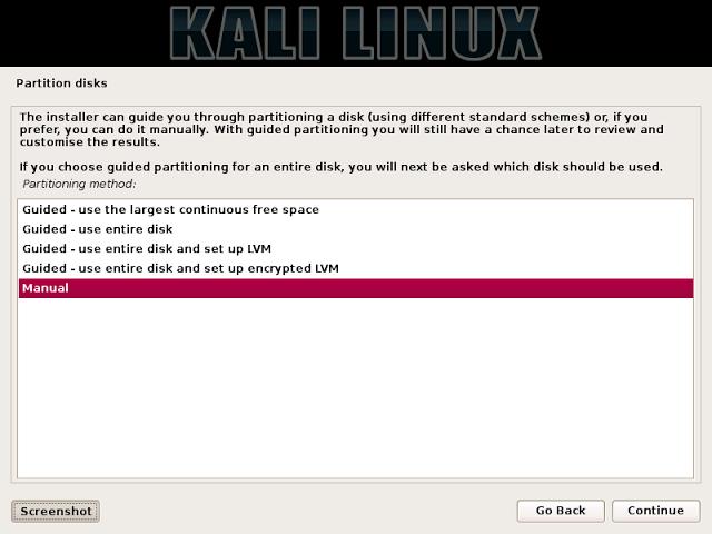 Menginstall Kali Linux didalam instalasi Windows