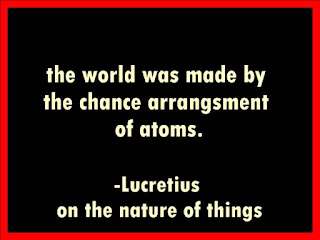 the world is made by the arrangement of atoms