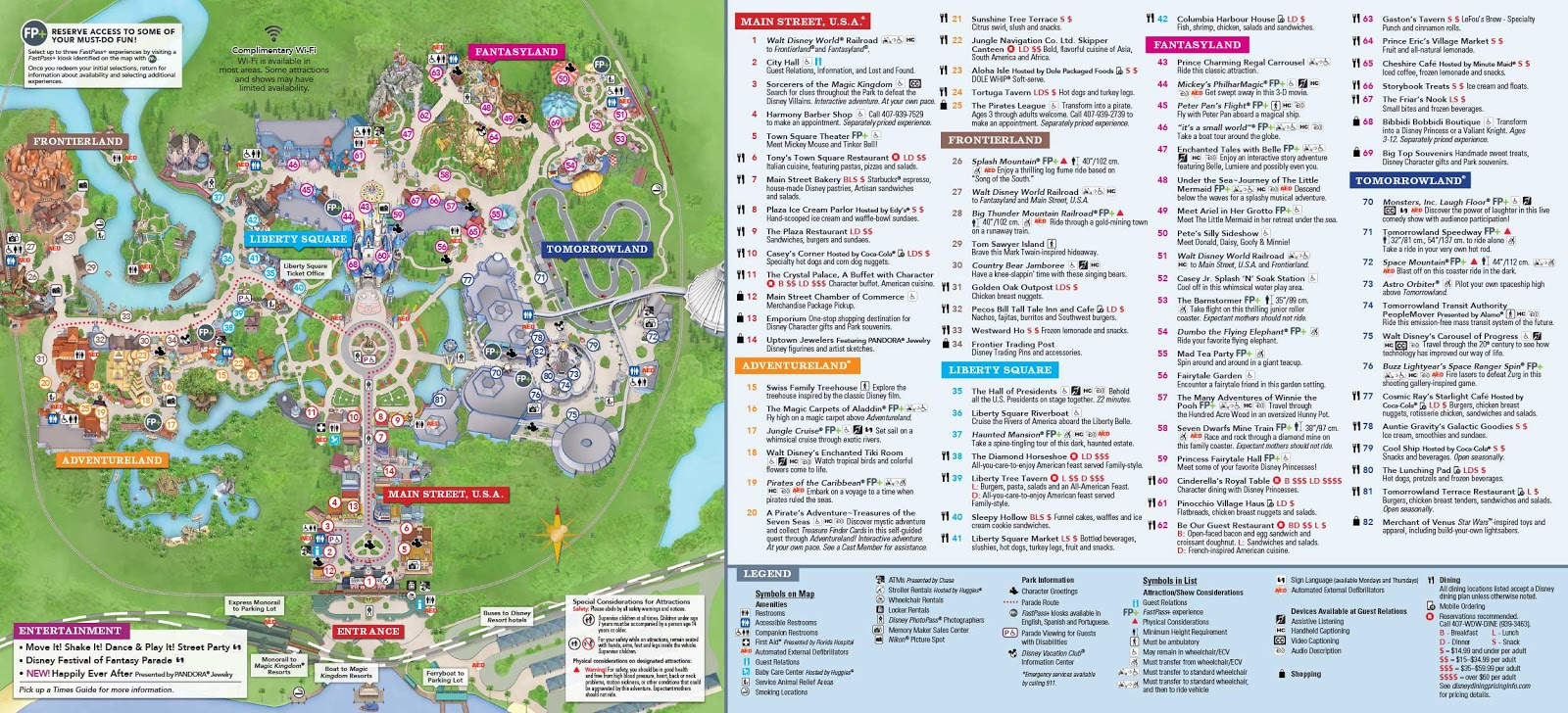 Mapa atual do Magic Kingdom
