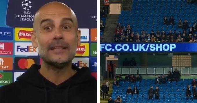 Guardiola pleads more Man City fans to attend next Premier League game