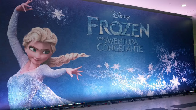 Parede Frozen na Expo Disney