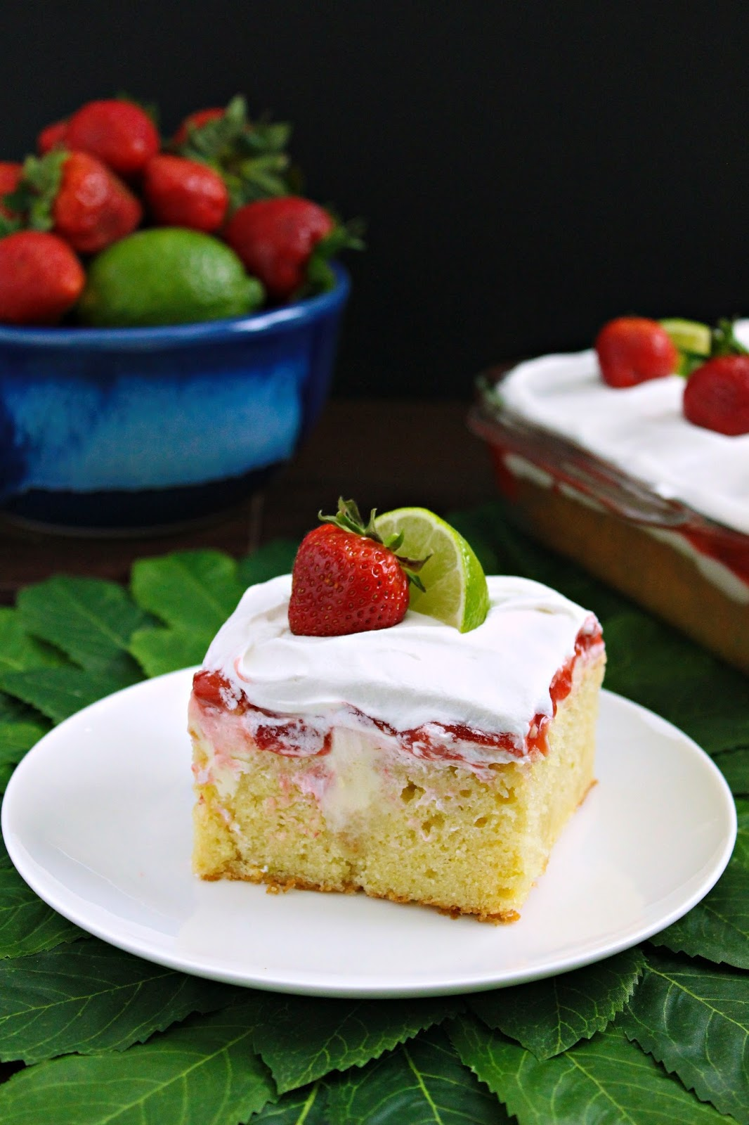 Love And Confections Key Lime Strawberry Poke Cake