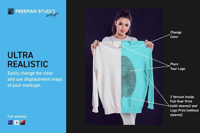 Sweatshirt Mock Up Set 4667065