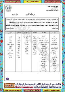 حصريا بوكليت مدرسة ليسيه الحرية في منهج اللغة العربية للصف الخامس الابتدائي الترم الاول